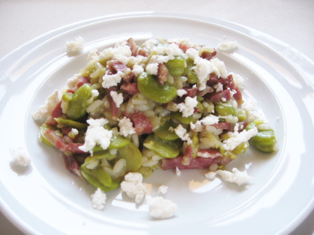 Broad Bean Risotto (2/2)